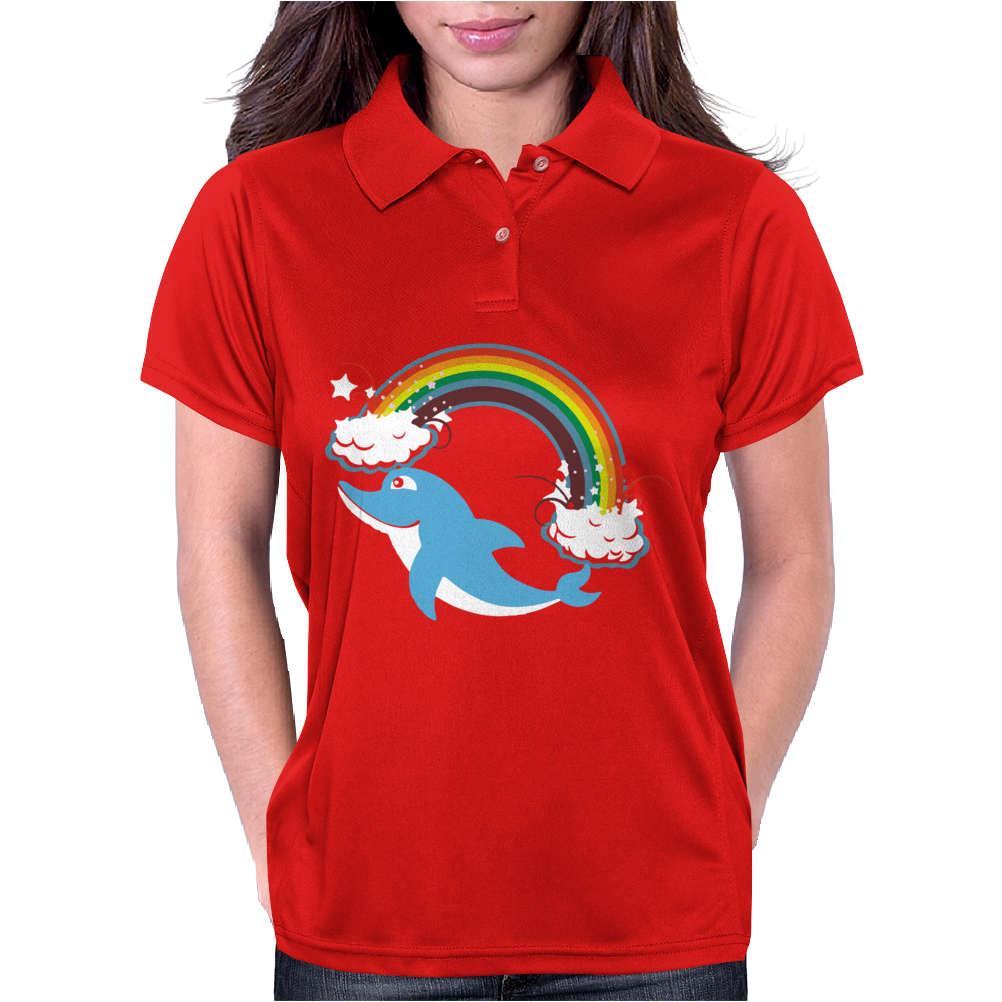 DOLPHIN RAINBOW Womens Polo