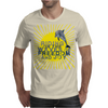 Dolphin riding the waves Mens T-Shirt