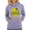 Dolphin riding the waves Womens Hoodie