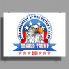 Donald Trump for president 2016 Eagle Head 3 Poster Print (Landscape)