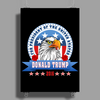 Donald Trump for president 2016 Eagle Head 3 Poster Print (Portrait)