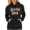 Donald Trump for President 2016 Navy USA Womens Hoodie