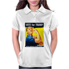 Donald Trump Rosie The Riveter 2016 Build A Wall Womens Polo