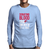 Donating Blood One Mosquito Funny Mens Long Sleeve T-Shirt