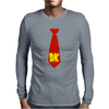 Donkey Kong Tie Video Game Retro Mens Long Sleeve T-Shirt