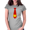 Donkey Kong Tie Video Game Retro Womens Fitted T-Shirt