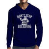 Dont Stop Believing Christmas Mens Hoodie