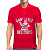 Dont Stop Believing Christmas Mens Polo
