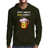 Dont Worry Bear Happy Mens Hoodie