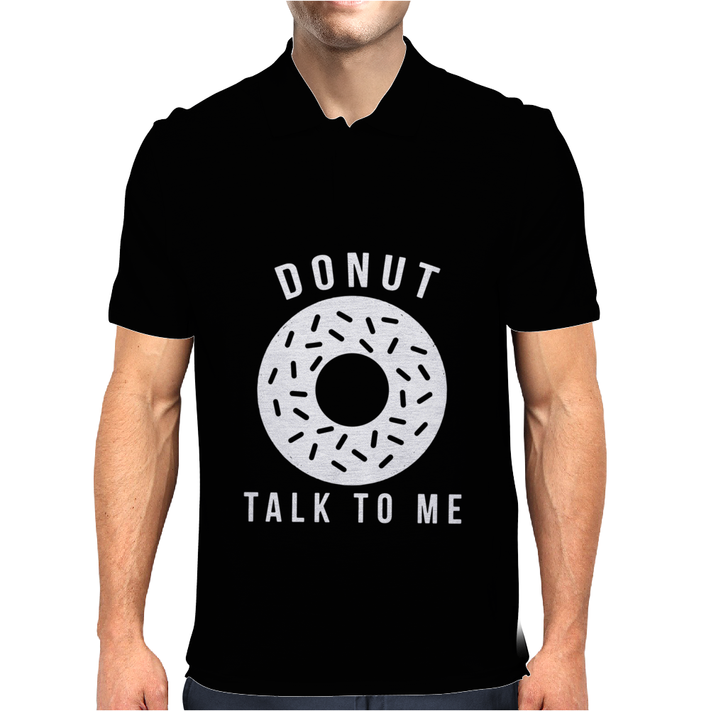 Donut Talk To Me Mens Polo