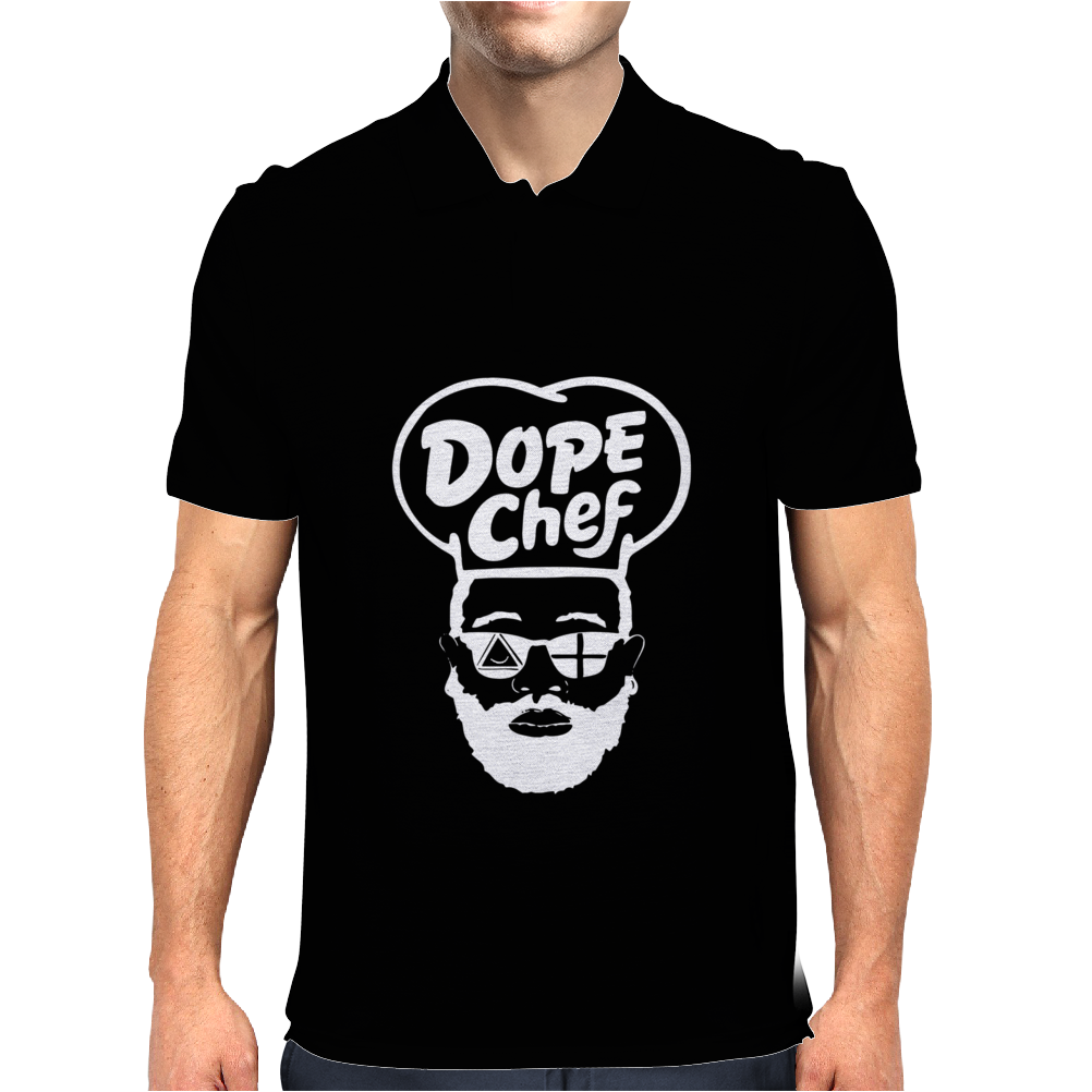 Dope Chef Cartoon Mens Polo