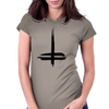 Double Cross Womens Fitted T-Shirt