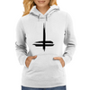 Double Cross Womens Hoodie