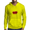 double hearts Mens Hoodie