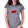 double hearts Womens Fitted T-Shirt
