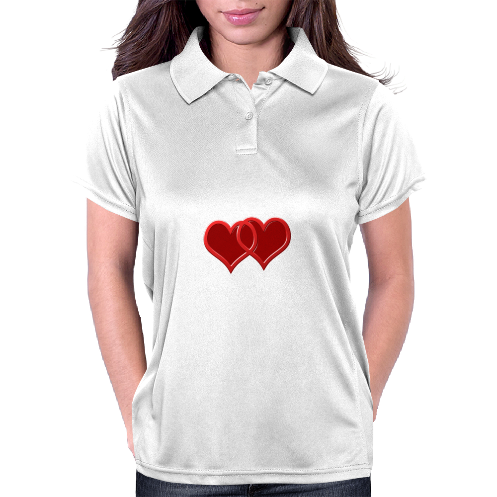 double hearts Womens Polo