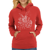 Down The Rabbit Hole (white) Womens Hoodie