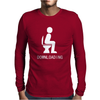 DOWNLOADING ! FUNNY WHITE SEX Mens Long Sleeve T-Shirt