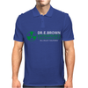 Dr Emmett Doc Brown Enterprises Back To The Future Mens Polo