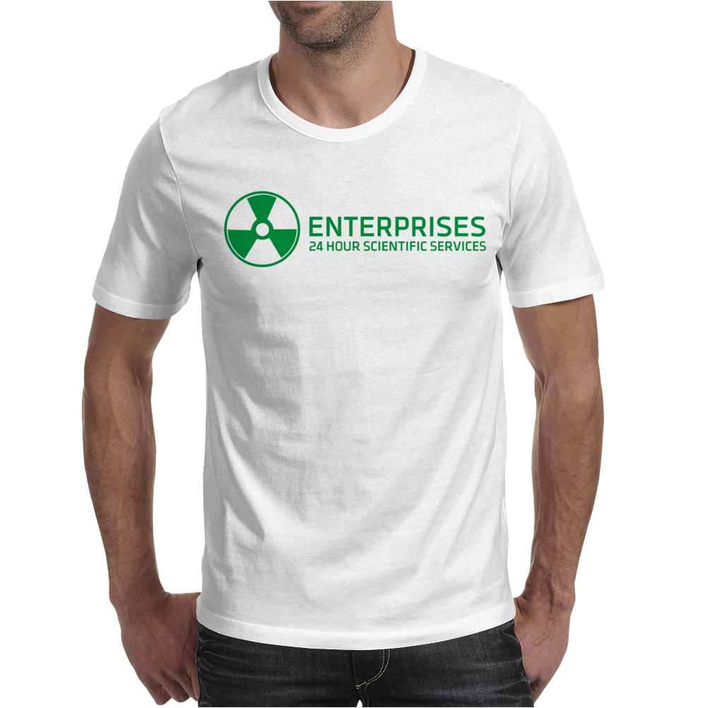 Dr Emmett Doc Brown Enterprises Back To The Future Mens T-Shirt