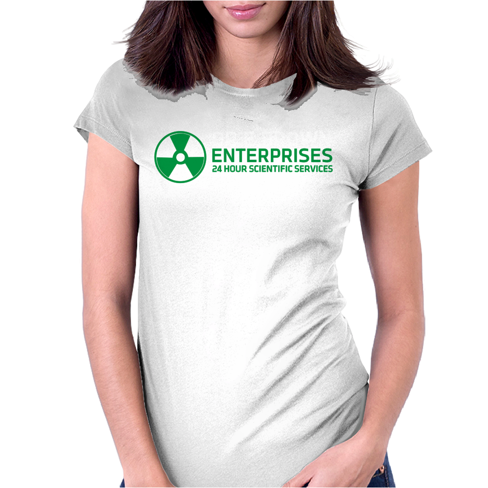 Dr Emmett Doc Brown Enterprises Back To The Future Womens Fitted T-Shirt