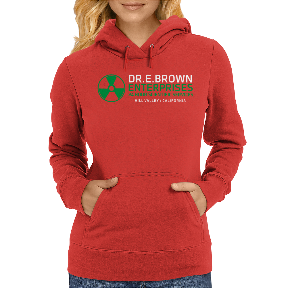 Dr Emmett Doc Brown Enterprises Back To The Future Womens Hoodie