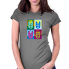 Dr Who's Warhol Cybermen Womens Fitted T-Shirt