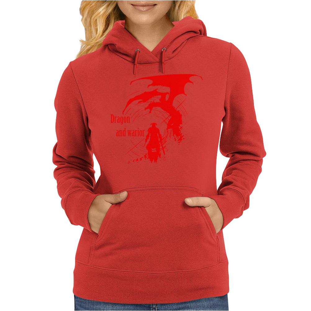 Dragon and warior Womens Hoodie