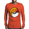 Dragon Ball x Pokemon Pokeball Mens Long Sleeve T-Shirt