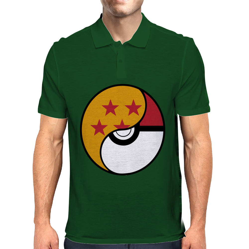 Dragon Ball x Pokemon Pokeball Mens Polo
