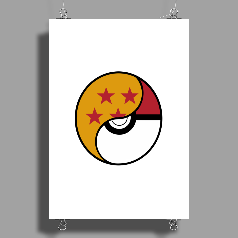 Dragon Ball x Pokemon Poster Print (Portrait)