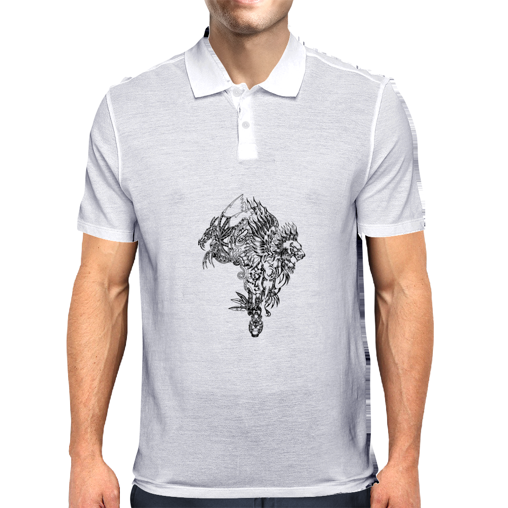 Dragon Lion Mens Polo
