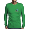 Dragon on Longboard skate Mens Long Sleeve T-Shirt