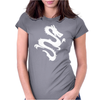 Dragon Silhouette Womens Fitted T-Shirt