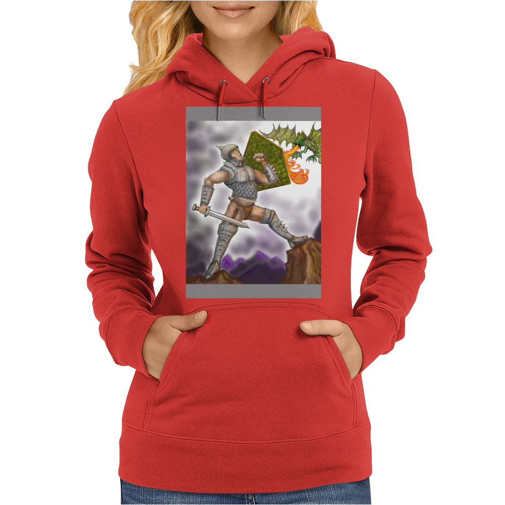 Dragon Slayer poster Womens Hoodie