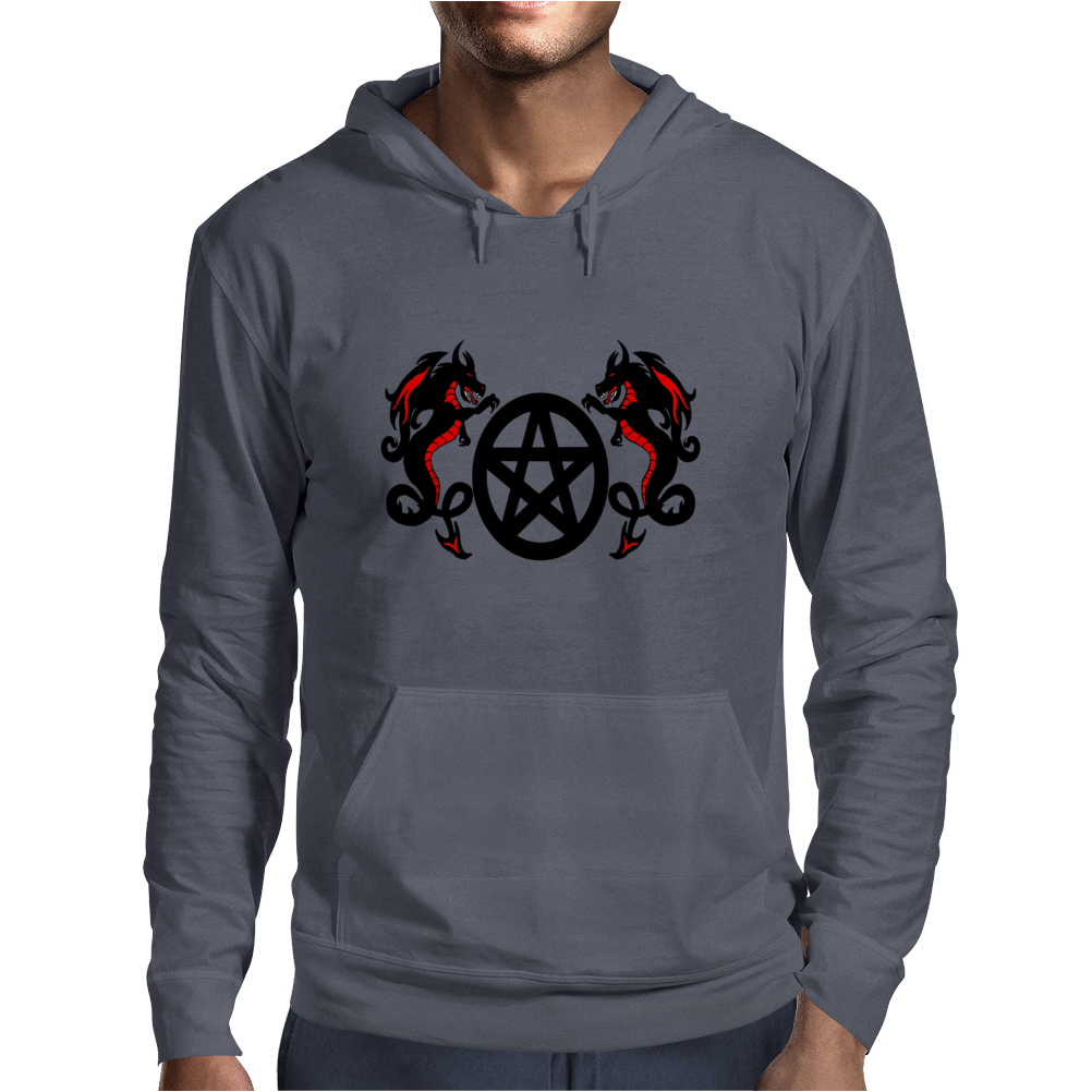 Dragons and Pentacle Mens Hoodie