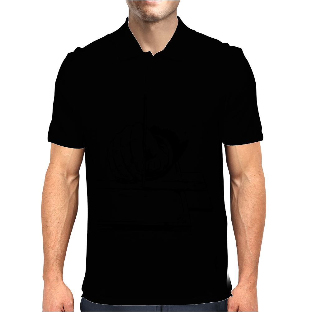 Drawing with a ruling pen Mens Polo