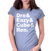 DRE EAZY CUBE RENDRE EAZY CUBE REN Womens Fitted T-Shirt