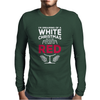 Dreaming Of A White Christmas Wine Funny Mens Long Sleeve T-Shirt
