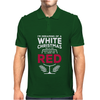 Dreaming Of A White Christmas Wine Funny Mens Polo