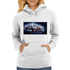 Drift racing - electrically charged Womens Hoodie