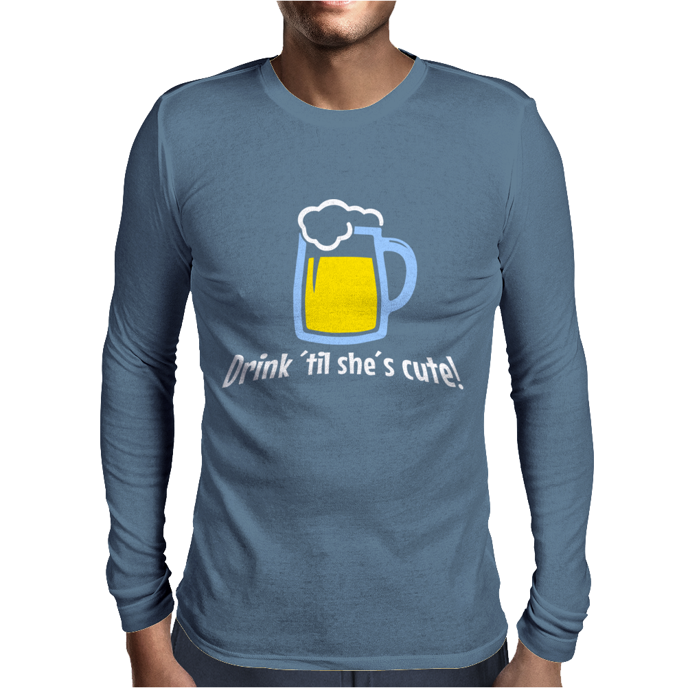 Drink ... Mens Long Sleeve T-Shirt