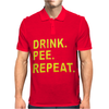 Drink Pee Repeat Mens Polo