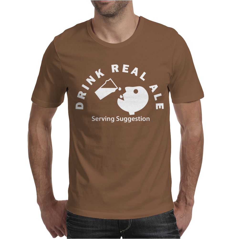 Drink Real Ale Serving Suggestions beer Drinking Mens T-Shirt