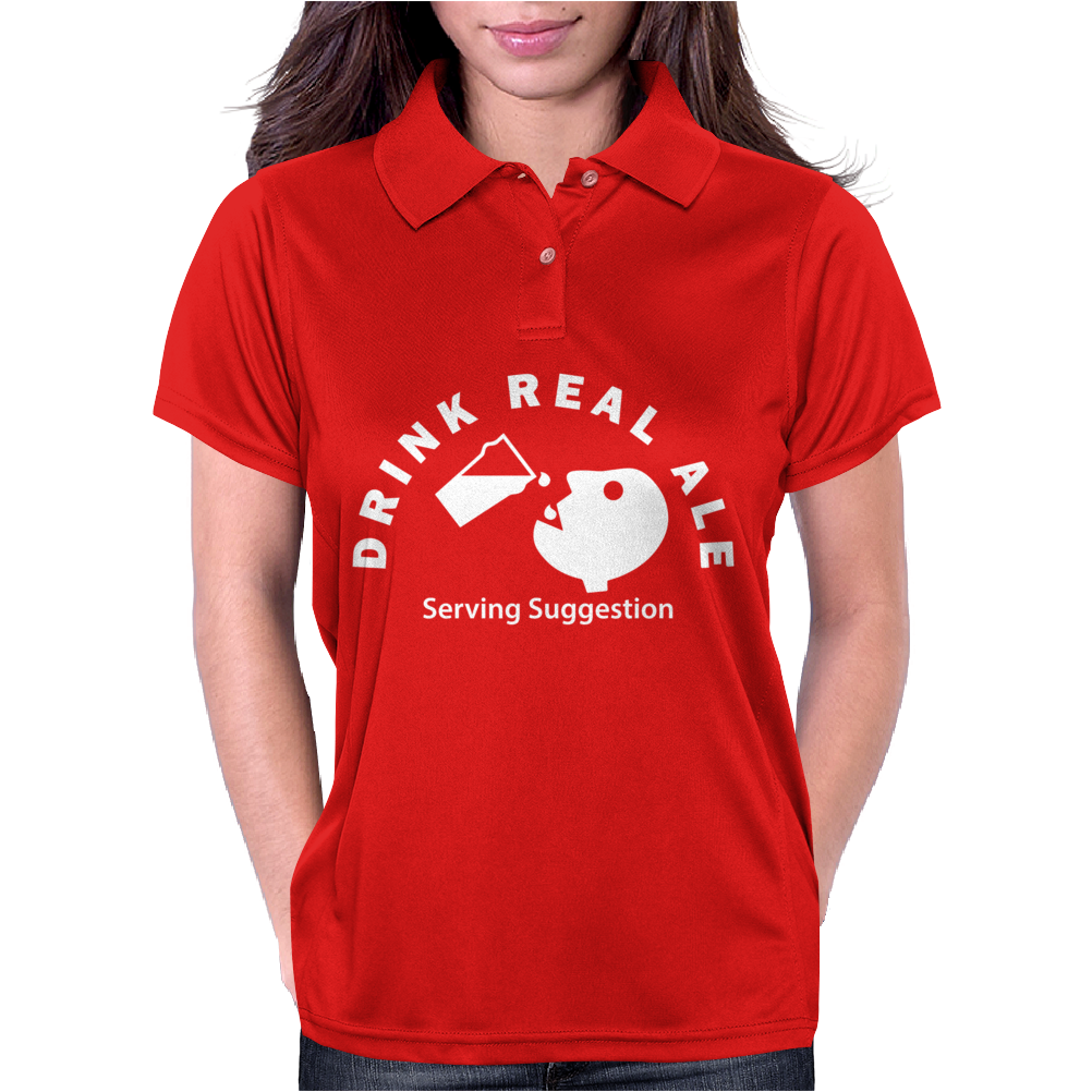 Drink Real Ale Serving Suggestions beer Drinking Womens Polo