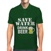 Drink water Beer Mens Polo
