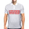 DRINKING WITH ME PREGNANCY WARNING Mens Polo