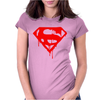 DRIPPING BLOOD SUPERMAN Womens Fitted T-Shirt