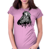 Dripping Zebra Womens Fitted T-Shirt