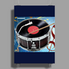Drum Record Player Poster Print (Portrait)